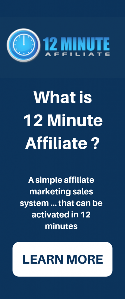 12 Minute Affiliate System  Ebay Used